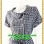1935ชุดแซกทำงาน เสื้อผ้าคนอ้วน ลายตารางน้ำเงิน คอตลบกุ๊นแถบคู่กระดุมหน้า เนี๊ยบแบบน่ารัก สไตล์สาวยุคใหม่กับปกที่แปลกตาไม่เหมือนใคร thumbnail 3