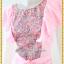 3148เสื้อผ้าคนอ้วน ชุดออกงานสีชมพู คอกลมแขนระบายคลุมไหล่แทรกผ้าลายด้านหน้าพรางทรงด้วยลายผ้าสไตล์หวานเรียบร้อยแบบไทย thumbnail 3