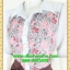 2605ชุดทํางาน เสื้อผ้าคนอ้วนชุดลายดอกสไตล์เชิ๊ตแขนยาวครึ่งศอกปลายแขนตุ๊กตากระดุมหน้ากระโปรงน้ำตาลพรางสะโพก thumbnail 3