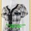 1774เสื้อผ้าคนอ้วน เสื้อผ้าแฟชั่นลายวินเทจแต่งแถบดำ เบรคลายอย่างสะดุดตา พรางรูปร่างสไตล์เท่ห์สปอร์ต thumbnail 3