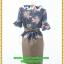 3019ชุดทํางาน เสื้อผ้าคนอ้วนผ้าชีฟองลายเสือโดดเด่นสะดุดตาแขนทรงระฆังคอวีระบายรอบ สวมใส่สบายหรูหราอลังการเลือกใส่เป็นชุดออกงานเลิศหรู thumbnail 4
