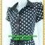 1996เสื้อผ้าคนอ้วน เสื้อผ้าแฟชั่นลายจุดกราฟฟิคหรูปกเชิ๊ตแขนกลีบบัวกระดุมหน้ากระโปรงเข้มพรางสะโพกสไตล์สาวมั่นคล่องตัว thumbnail 3