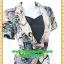 2666ชุดทํางาน เสื้อผ้าคนอ้วนผ้าลายไทยวินเทจ เสื้อนอกคลุมมีชุดด้านในเย็บติดเข้ารูปร่างเอวมีสัดส่วนทรวดทรงโฉบเฉี่ยวมั่นใจแบบสไตล์สาวทำงานกระโปรงทรงสอบมีซับใน thumbnail 2
