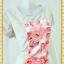 1960ชุดทํางาน เสื้อผ้าคนอ้วนคอกลมดอกตัดต่อพิ้นช่วงบ่าปรับสรีระให้บางและพรางรูปร่างเทรนด์คลาสสิคสีครีมมีซับใน thumbnail 2