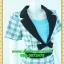 2530ชุดทํางาน เสื้อผ้าคนอ้วนผ้าลายไทยตารางโดดเด่น คล้ายสวมเสื้อนอกคลุมไม่ต้องสวมเกาะอกด้านใน เข้ารูปร่างเอวมีสัดส่วนทรวดทรงโฉบเฉี่ยวมั่นใจแบบสไตล์สาวทำงานกระโปรงทรงสอบมีซับใน thumbnail 2