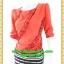 2761เสื้อผ้าคนอ้วน เสื้อผ้าแฟชั่นรับคริวต์มาสสีแดงสดใสลุคใหม่รับปีใหม่ กระโปรงลายโมเดิร์นกราฟฟิคสไตล์หรูโดดเด่นแขนยาวปิดไหล่ thumbnail 3