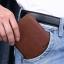 กระเป๋าสตางค์ผู้ชาย หนังวัวแท้ 100% ทรงสั้น Leather DIDC Black สีดำ (ส่งพร้อมกล่อง) thumbnail 8