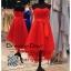 รหัส ชุดราตรียาว :JE029 ชุดราตรีหน้าสั้นหลังยาว สีแดง สวยๆ เหมาะใส่ออกงานแต่งงาน งานกลางวัน กลางคืน thumbnail 1