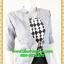 2692ชุดทํางาน เสื้อผ้าคนอ้วนแจ๊คเก็ตเทาคลุมด้านนอกคล้ายสวมทับเกาะอกด้านในสไตล์สาวมั่นใจ คล่องตัว thumbnail 2
