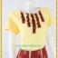 3174ชุดทำงานคนอ้วนผ้าไทยสีเหลือง คอกลมแต่งจีบด้านหน้าโดดเด่นด้วยกระโปรงผ้าไทยแยก10ชิ้นทรงเอสไตล์หวานสุภาพเรียบร้อย thumbnail 2