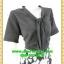 2557ชุดทํางาน เสื้อผ้าคนอ้วนผ้าลายสีดำแขน2ชั้นสไตล์หรูเบาสบายรับซัมเมอร์ คอผูกโบสไตล์สุภาพ เรียบร้อย มีซับใน thumbnail 2
