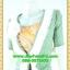 2792ชุดแซกทำงาน เสื้อผ้าคนอ้วนสีเหลืองคลุมด้วยตัวนอกเขียวแต่งระบายปกแขนสไตล์หรูเนี๊ยบ มั่นใจ thumbnail 2