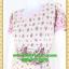 2598ชุดเดรสทำงาน เสื้อผ้าคนอ้วน สีกลีบบัวลายดอกเล่นเชิงคอกลมกระโปรงป้ายเสริมชิ้นลอยพาดครึ่งตัว เพิ่มลายดอกสลับบนตัวชุดอย่างหรูหรา thumbnail 3