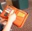กระเป๋าสตางค์ใส่หนังสือเดินทาง พาสปอร์ต Passport Bag Travelus Orange สีส้ม thumbnail 2
