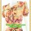 2807ชุดทํางาน เสื้อผ้าคนอ้วนคอบัวแขนตุ๊กตาผ้าพิมพ์ลายเหลืองกระโปรงยาวทรงย้วยสวยหวานด้วยสไตล์หวานเรียบร้อย thumbnail 3