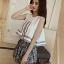 ชุดเซทแขนกุด กางเกงขาสั้นแต่งพู่ Asian Style-สีขาว thumbnail 1