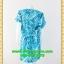 1667เสื้อผ้าคนอ้วน ชุดทำงานคอวีลายสายฟ้าทรงเอวถ่วงพรางท้องกระโปรงเข้ารูปสั้นพอดีเข่าลายสีน้ำตาลเหลืองขุ่นสไตล์สปอร์ตมีกระเป๋าล้วงซ้ายขวา thumbnail 4