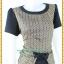 3151เสื้อผ้าคนอ้วนผ้าไทย ทอลายไทย สีดำคอกลมระบายเอวตัดต่อกระโปรงทรงดินสอสีดำช่วยเพิ่มความสูงช่วงขาพร้อมมั่นใจสวมใส่ทำงาน thumbnail 2