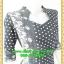 2750ชุดทํางาน เสื้อผ้าคนอ้วนสีดำลายดอกสวยลุคหรูสง่างามคอปีนโค้งรูปหัวใจโชว์เครื่องประดับสไตล์ออกงานเรียบหรู thumbnail 2