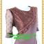 2547ชุดแซกทำงาน เสื้อผ้าคนอ้วนคอกลมสีมังคุดอมน้ำตาลแต่งระบายโค้งด้านหน้าพร้อมแขนลูกไม้โปร่งสวมใส่ออกงานหรูหรา thumbnail 2