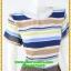 3055ชุดเดรสทำงาน เสื้อผ้าคนอ้วน ลายขวางสีสดใสเล่นเชิงกระโปรงด้วยจีบรอบโดดเด่นเพิ่มความหวานสไตล์เบบี้ thumbnail 2