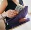 กระเป๋าสตางค์ใส่หนังสือเดินทาง พาสปอร์ต Passport Bag Travelus Purple สีม่วง thumbnail 2