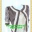 2498เสื้อผ้าคนอ้วน เสื้อผ้าแฟชั่นคอกลมตัวในมีตัวนอกคลุมทับลูกไม้น้ำตาลสไตล์หวานเรียบร้อยสุภาพเป็นทางการ thumbnail 2