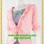 2680ชุดแซกทำงาน เสื้อผ้าคนอ้วนสีชมพูคลุมด้วยตัวนอกแต่งระบายปกแขนสไตล์หรูเนี๊ยบสีดำลายไทยหรูเนี้ยบ thumbnail 3