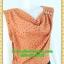 2512เสื้อผ้าคนอ้วน เสื้อผ้าแฟชั่นคอถ่วงน้ำตาลดีไซน์งานการ่าระดับเฟริ์ทคลาส คอถ่วงย้วยไล่ระดับแนวเฉลียง ทรงถ่วงเองกระโปรงสอบ thumbnail 2