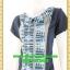 2697เสื้อผ้าคนอ้วน ชุดทำงานชุดสีกรมท่าแต่งลายไทยสไตล์หวานเรียบร้อยคอบัวแหลมเพิ่มความหวานระบายชายกระโปรงผ้าทอเนื้อนิ่มทิ้งตัว thumbnail 3