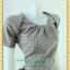 1758เสื้อผ้าคนอ้วน ชุดทำงานลายสก็อตผ้าทอคอสโนว์ไว้ท์ คอทวิสต์ด้านหน้าเก๋แปลกตา ดีไซน์ใหม่ในงานสุดเนี๊ยบอินเทรนด์มาแรงพรางรูปร่าง thumbnail 3