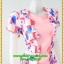 2972ชุดทํางาน เสื้อผ้าคนอ้วนสีชมพูคอกลมคลุมด้วยตัวสั้นชั้นนอกลายดอกหวานสไตล์เนี๊ยบเรียบง่าย thumbnail 2