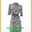 2989เสื้อผ้าคนอ้วน ชุดทำงานชุดคอจีนแต่งดำคอแขนเอวสไตล์เรียบโชว์ลายผ้าพรางสรีระไม่ซ้ำใคร thumbnail 4