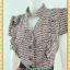 1999เสื้อผ้าคนอ้วน ชุดทำงานทูโทนระบาย2ข้างคอจีนแขนคร่อมแดงลายกราฟฟิค ตัดกระโปรงสวยเด่นแบบสาวเนี๊ยบ โฉบเฉี่ยว มั่นใจในรูปร่าง thumbnail 2
