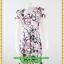 3013ชุดทํางาน เสื้อผ้าคนอ้วนคอวีสีชมพูลายกราฟฟิคแขนฟิลิปปินส์แต่งโบด้านหน้า สไตล์ล้ำคลาสสิคสุภาพเป็นทางการอย่างโดดเด่นงานละเอียดด้วยซับใน thumbnail 1