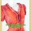 1919เสื้อผ้าคนอ้วน ชุดทำงานชุดสไตล์เปรี้ยวโมเดิร์นลายกราฟฟิคสีเทาแต่งคอด้วยระบายรอบคอด้านหน้าครึ่งตัวติดกระดุมหน้าและแขนตุ๊กตา thumbnail 2
