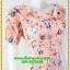 2933เสื้อผ้าคนอ้วน ชุดทำงานลายดอกสีชมพูคอระบายม้วนกุหลาบด้านข้างเก๋สไตล์หวาน thumbnail 2
