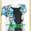 2611ชุดแซกทำงาน เสื้อผ้าคนอ้วน คอกลมดำคลุมเสื้อตัวนอกผ้าลายแฟชั่นสไตล์เนี๊ยบเรียบง่าย thumbnail 2