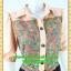 2677ชุดทํางาน เสื้อผ้าคนอ้วนชุดลายดอกสไตล์เชิ๊ตแขนยาวครึ่งศอกปลายแขนตุ๊กตากระดุมหน้ากระโปรงดำพรางสะโพก thumbnail 2