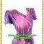 2627ชุดทํางาน เสื้อผ้าคนอ้วนคอวีสีครีมคอวีลายแขนฟิลิปปินส์แต่งโบด้านหน้า สไตล์ล้ำคลาสสิคสุภาพเป็นทางการอย่างโดดเด่นงานละเอียดด้วยซับใน thumbnail 2