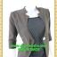 2700ชุดทํางาน เสื้อผ้าคนอ้วนแจ๊คเก็ตเทาคลุมด้านนอกคล้ายสวมทับเกาะอกด้านในสไตล์สาวมั่นใจ คล่องตัว thumbnail 2