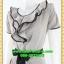 2648เสื้อผ้าคนอ้วน เสื้อผ้าแฟชั่นผ้าโอซาก้าสีเทาตัดขอบชุดสวยสะดุดตาระบายพวงใต้คอเข้ากับกับโบดำสไตล์สาวหวาน thumbnail 3