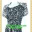 2525ชุดเดรสคนอ้วน เสื้อผ้าคนอ้วนลายม้าลายแต่งลูกไม้ดำด้านหน้า คอปีนตั้งหรูหรา สไตล์เนี๊ยบหรู thumbnail 3
