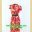 1657เสื้อผ้าคนอ้วน เสื้อผ้าแฟชั่นคอวีป้ายจีบข้างกระโปรงลายใบไผ่พรางรูปร่างเพรียวสวมใส่ทำงานสบายเนื้อวาเลนติโน่พริ้วไหวเป็นธรรมชาติ thumbnail 4