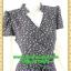2651ชุดเสื้อผ้าคนอ้วน ชุดทำงานลายดอกสไตล์เปรี้ยวหรูไฮโซชุดคอจีนป้ายสำเร็จเก็บทรงเนี๊ยบสุด thumbnail 2