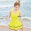 ชุดว่ายน้ำไซส์เล็ก สีเหลือง รอบอก 32-34 เอว 26-28 สะโพก 34-38 นิ้วค่ะ น่ารักมาก ด้านในเป็นขาสั้นไม่แยกชิ้นค่ะ thumbnail 1