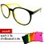 แว่นตา แว่นแฟชั่น ป้องกัน UV400 กรอบสีดำเหลือง thumbnail 1