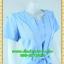 2596เสื้อผ้าคนอ้วน ชุดทำงานสีฟ้าวันแม่คอกลมแทรกชิ้นกลางอกพร้อมตีเกล็ดสไตล์เรียบเก๋กระโปรงย้วยเล็กน้อย thumbnail 2