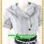 2626ชุดทํางาน เสื้อผ้าคนอ้วนปกเทเลอร์ใหญ่เดินระบายตามขอบปกเสื้อ สุภาพเรียบร้อยสีเทาควันบุหรี่ลายตารางเบรกลายสาบคาดเอวดำ พร้อมซับใน thumbnail 2