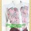 2605ชุดทํางาน เสื้อผ้าคนอ้วนชุดลายดอกสไตล์เชิ๊ตแขนยาวครึ่งศอกปลายแขนตุ๊กตากระดุมหน้ากระโปรงน้ำตาลพรางสะโพก thumbnail 2